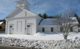 Former St Ann's Catholic Church, Roxbury VT, closed in the 1970s. Now the workshop for Heritage Joinery.
